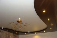 Двухуровневый натяжной потолок в сзал