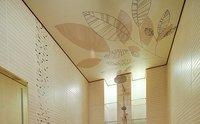 натяжной потолок в ванную с фотопечатью