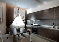 сатиновый натяжной потолок на кухню