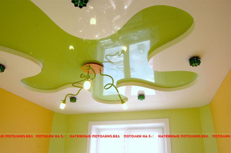 Двухуровневый натяжной потолок в детскую