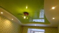 Двухуровневый глянцевый натяжной потолок в детскую