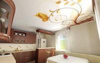 натяжной потолок на кухню с фотопечатью