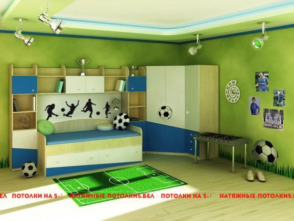 сатиновый натяжной потолок в детскую